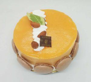 Entremet glacé abricot